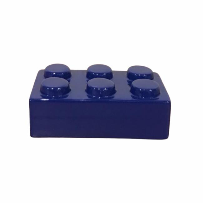 BLOCO LEGO CERÂMICA AZUL CARBONO (C 15 CM   L 9 CM   A 6 CM)