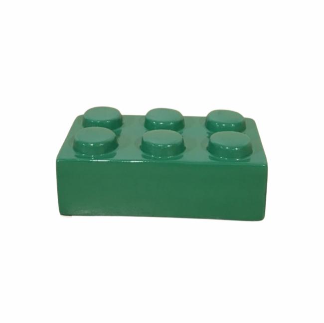 BLOCO LEGO CERÂMICA VERDE COPA (C 15 CM | L 9 CM | A 6 CM)