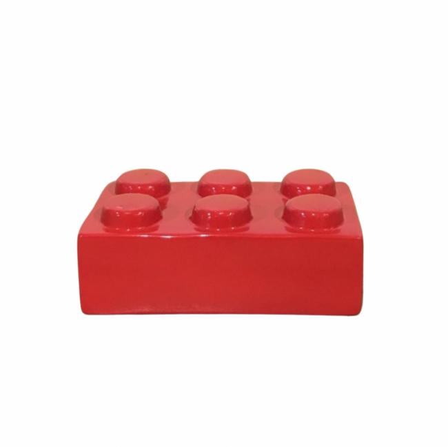 BLOCO LEGO CERÂMICA VERMELHO (C 15 CM   L 9 CM   A 6 CM)