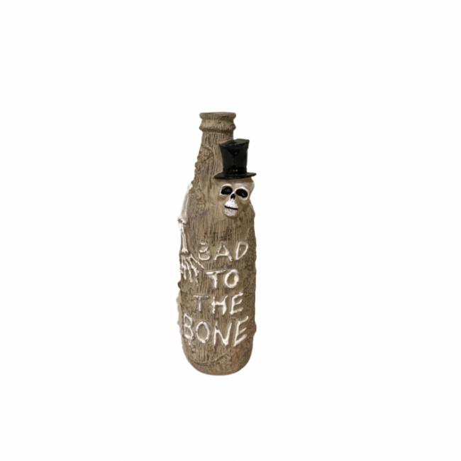 GARRAFA BAD TO THE BONE RESINA OFF WHITE (D 5 CM | A 19 CM)