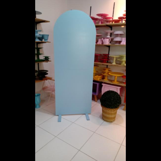 Painel placa azul claro