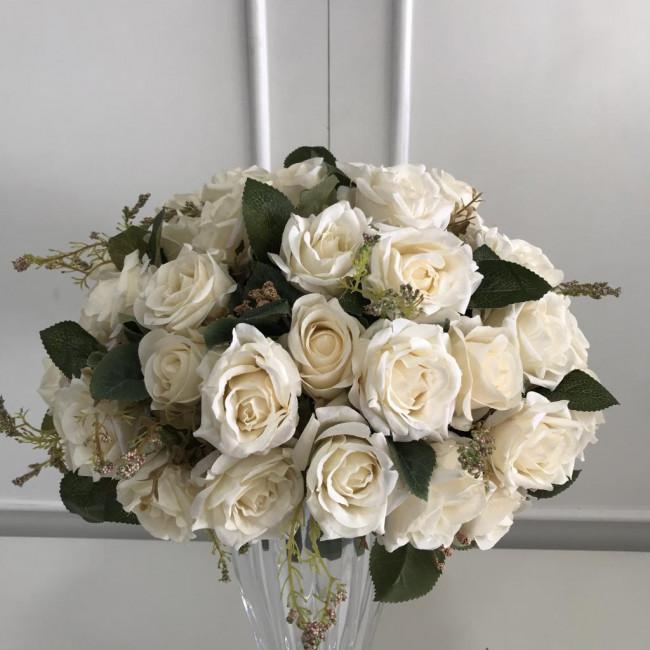Arranjo de Flores Permanentes Médio - Creme 2