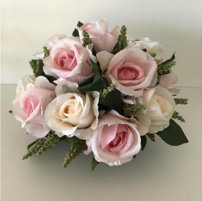 Arranjo de Flores Permanentes  mesa-  Rosa claro