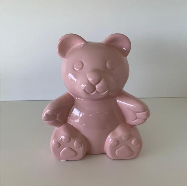 Ursinho Cerâmica - Rosa Bebê